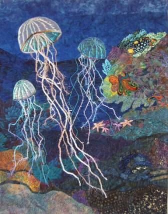 Fiber Art Quilts Seascape